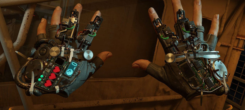Half-Life: Alyx hands of the main character