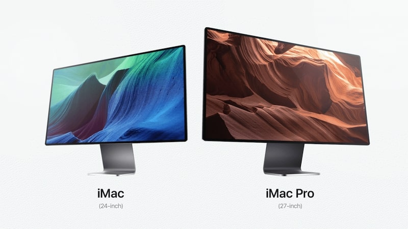 two imacs 2021 concepts 24 inches and 27 inches displays
