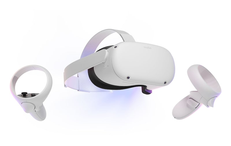 Oculus quest 2 vr headset with white background