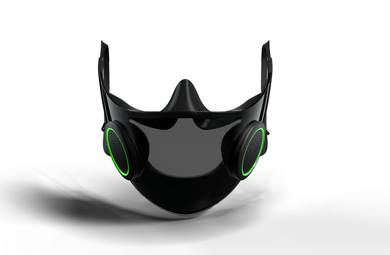 razer hazel mask with white background