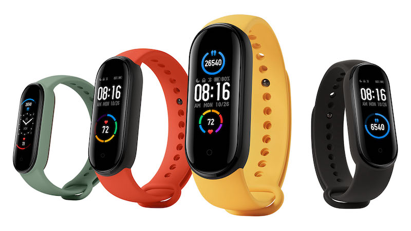 mi bands 5 in different colors